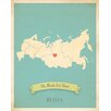 Children Inspire Design My Roots Russia Personalized Map Paper Print