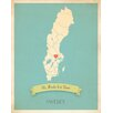 Children Inspire Design My Roots Sweden Personalized Map Paper Print