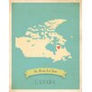 Children Inspire Design My Roots Canada Personalized Map Paper Print