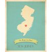 Children Inspire Design My Roots New Jersey Personalized Map Paper Print
