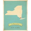 Children Inspire Design My Roots New York Personalized Map Paper Print