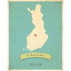Children Inspire Design My Roots Finland Personalized Map Paper Print