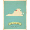 Children Inspire Design My Roots Virginia Personalized Map Paper Print