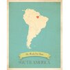 Children Inspire Design My Roots South America Personalized Map Gallery Wrapped on Canvas Art
