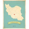 Children Inspire Design My Roots Iran Personalized Map Paper Print
