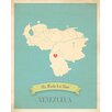 Children Inspire Design My Roots Venezuela Personalized Map Paper Print