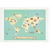 Children Inspire Design Global Compassion World Map Graphic Art