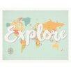 Children Inspire Design Explore Map Paper Print