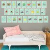 Children Inspire Design 26 Piece Nature Themed Alphabet Wall Paper Print Set