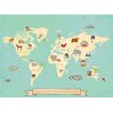 Children Inspire Design Global Compassion World Map Graphic Art on Gallery Wrapped Canvas