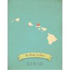 Children Inspire Design My Roots Hawaii Personalized Map Graphic Art on Gallery Wrapped Canvas
