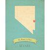 Children Inspire Design My Roots Nevada Personalized Map Graphic Art on Gallery Wrapped Canvas