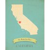 Children Inspire Design My Roots California Personalized Map Graphic Art on Gallery Wrapped Canvas