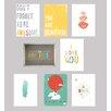 Children Inspire Design Be Inspired 8 Piece Paper Print Set