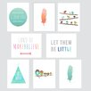 Children Inspire Design Boho 8 Piece Paper Print Set