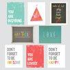 Children Inspire Design The Rules 8 Piece Paper Print Set