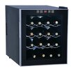 Sunpentown 16 Bottle Single Zone Freestanding Wine Refrigerator