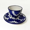 Le Souk Ceramique Jinane Tea / Espresso Cup and Saucer (Set of 4)
