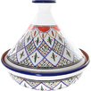 "Le Souk Ceramique 12"" Tabarka Design Cookable Tagine"
