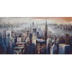 Moe's Home Collection City Dusk Painting Print on Wrapped Canvas