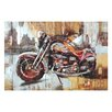 Moe's Home Collection Motorcycle City Painting Print
