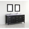 "Bauhaus Bath Coraline 75"" Double Bathroom Vanity Set with Mirror"