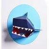 Nursery Works Oceanography Xander the Shark Paper Bust Wall Decor