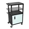 Luxor LP Carts Series AV Cart with Cabinet/Electric