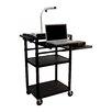 Luxor LP Carts Presentation Station AV Cart with Laptop Shelf