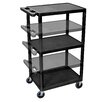 Luxor LP Carts Series AV Cart with Electric