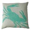 Dermond Peterson Big Crab Linen Throw Pillow