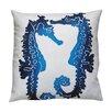 Dermond Peterson Seahorse Linen Throw Pillow