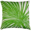 Dermond Peterson Flora Palm Zoom Linen Throw Pillow