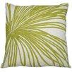 Dermond Peterson Flora Palm Linen Throw Pillow