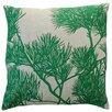 Dermond Peterson Flora Pine Bough Linen Throw Pillow