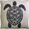 Dermond Peterson Skandia Sköldpadda Linen Throw Pillow