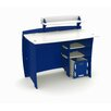 """Legare Furniture Race 43"""" Writing Desk with Accessory Shelves and File Cart"""