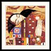 Amanti Art 'The Fulfillment (Die Erfullung), 1905-1909 (Detail)' by Gustav Klimt Framed Painting Print