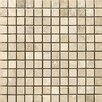 "Emser Tile Natural Stone 1"" x 1"" Travertine Mosaic Tile in Cream"