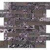 Emser Tile Vista Random Sized Glass Splitface Tile in Gray