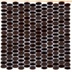 Emser Tile Confetti Porcelain Mosaic Tile in Chocolate