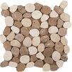 Emser Tile Random Sized Travertine Pebble Tile in Beige/Mocha