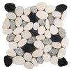 Emser Tile Random Sized Marble Pebble Tile in Multi-colored