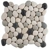 Emser Tile Random Sized Marble Pebble Tile in Venetian