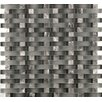 Emser Tile Lucente Glass Mosaic Tile in Gray/Brown