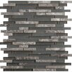 Emser Tile Lucente Random Sized Glass Mosaic Tile in Gray