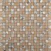 Emser Tile Lucente Isola Glass Mosaic Tile in Beige