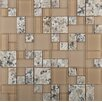 Emser Tile Lucente Isola Random Sized Glass Mosaic Tile in Beige