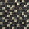 Emser Tile Vista Glass Mosaic Tile in Black and Gray