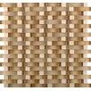 Emser Tile Lucente Random Sized Glass Mosaic Tile in Beige